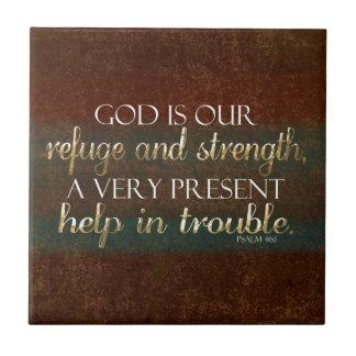 Guden är vårt för bibelVerse för fristad kristna Kakelplatta
