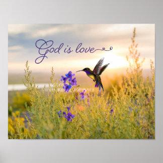 Guden för versen för Hummingbirdblommabibeln är Poster