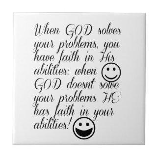 Guden löser ditt problem kakelplatta