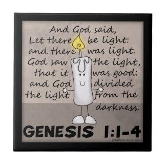 Guden skapade Ljus-Uppkomst-Ljusstaken teckenet Kakelplatta