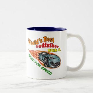Gudfaderbehov för rusar fars daggåvor kaffe koppar