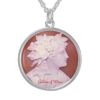 Gudinna av vin sterling silver halsband