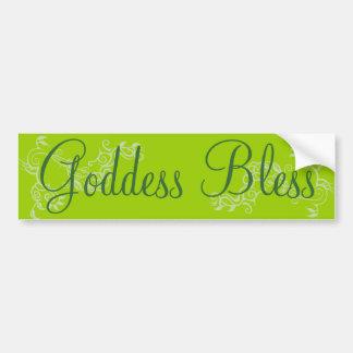 Gudinnan välsignar bildekal