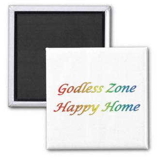 Gudlös hem- magnet för text för lycklighemregnbåge