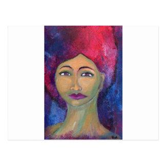 Gudomliga kvinnliga Lola Vykort