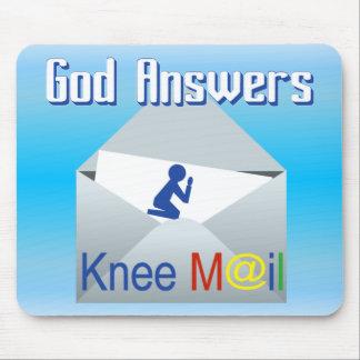 Gudsvar som knäet postar den kristna musen, musmatta