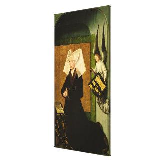 Guigone de Salins, fru av oljedoseringen Canvastryck