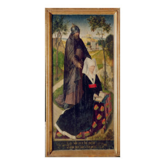 Guillemette de Montagu med Sanktt Guillaume Poster