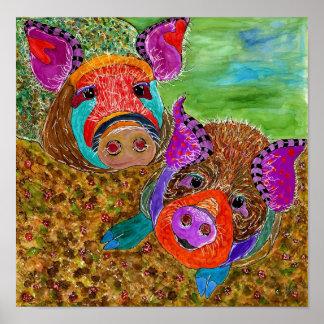 """Guinea affisch för Hog 12x12"""" (anpassadet)"""