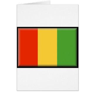 Guinea flagga hälsningskort
