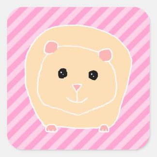 Guinea Pig. Fyrkantigt Klistermärke