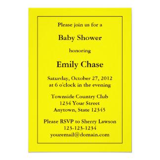 Gul baby showerinbjudan för anpassningsbar 12,7 x 17,8 cm inbjudningskort