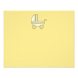 Gul babyPram. Reklamblad 11,5 X 14 Cm