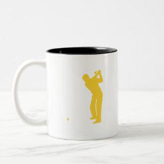 Gul bärnstensfärgad Golf Två-Tonad Mugg