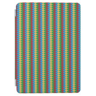 Gul blåttgrönt & röda geometriska kammusslor iPad air skydd