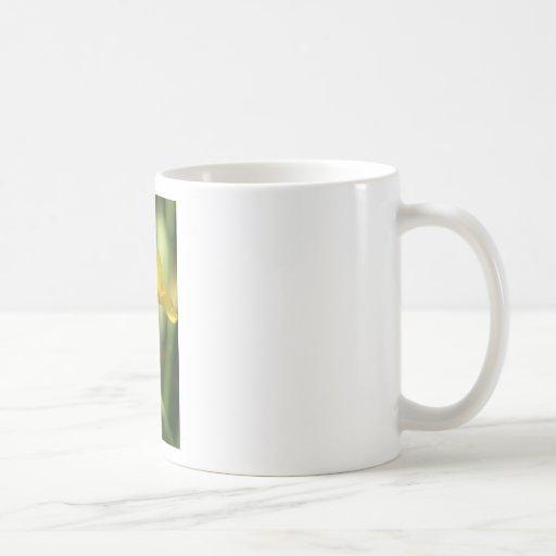 Gul blom kaffe mugg
