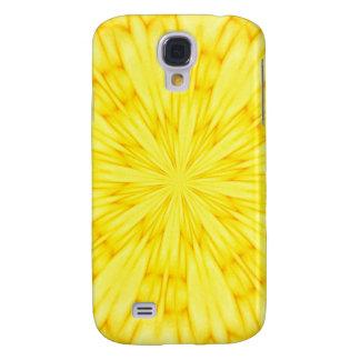 Gul blommarFractal Galaxy S4 Fodral