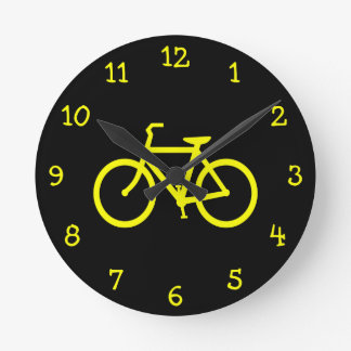 Gul cykel rund klocka