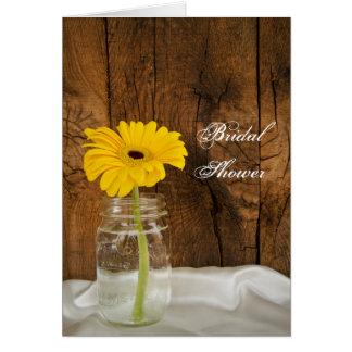 Gul daisy i möhippa för Masonburkland Hälsningskort