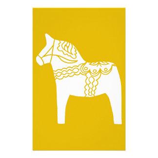 Gul Dala häst Brevpapper