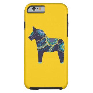 Gul Dala häst Tough iPhone 6 Case