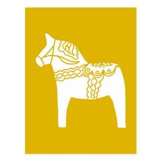 Gul Dala häst Vykort