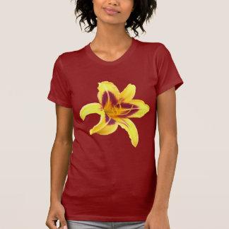 Gul Daylilyblomma med rött, Hemerocallis: Tee Shirt