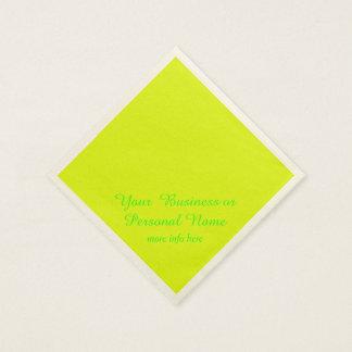 gul fast färg för neon pappersservett