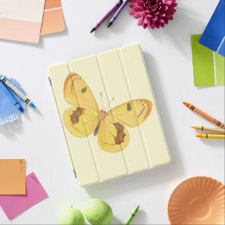 Gul fjäril - konstipad cover iPad skydd