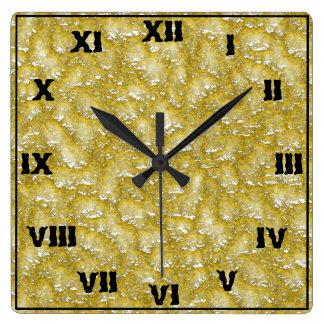 gul flytande fyrkantig klocka