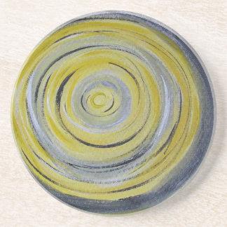 gul grå färgvit cirklar underlägg