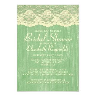 Gul grön landsnöreinbjudningskort för möhippan 12,7 x 17,8 cm inbjudningskort