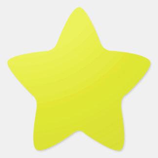 Gul guld- färg skuggar förbigår: Tillfoga text Stjärnformat Klistermärke