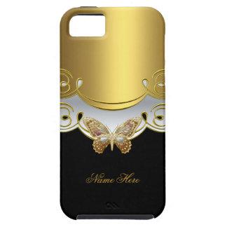 Gul guldsvart för fjäril iPhone 5 cases