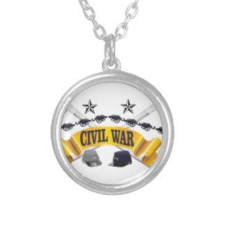 gul inbördeskrigkonst halsband med rund hängsmycke