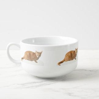 Gul katt mugg för soppa