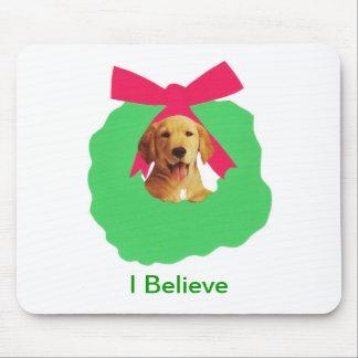 Gul kran för jul för helgdag för Labrador Musmatta
