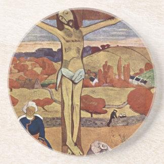 Gul Kristus av Paul Gauguin, vintagekonst Underlägg