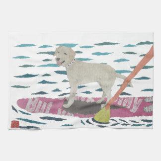 Gul lab Labrador Retriever, strandhund Kökshandduk