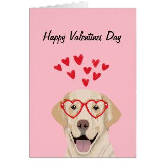 Gul lab - valentineskärlekkort - förfölja kärlek hälsningskort