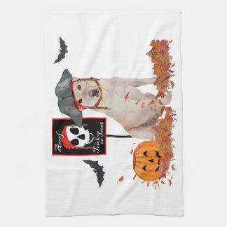 Gul Labrador Retriever Halloween Kökshandduk
