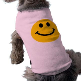 Gul lycklig smiley facehund tröja