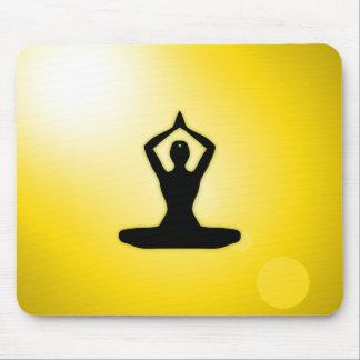 Gul meditation för Zen Mus Matta