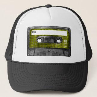 Gul och svart Houndstooth etikettkassett Keps