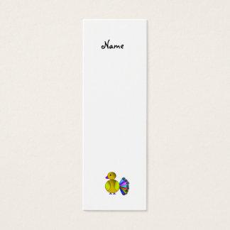 Gul påfågel för regnbåge litet visitkort