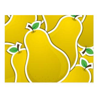 Gul pear för funky vykort