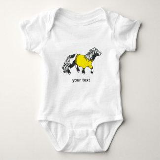 gul ponnybebisvest tröja