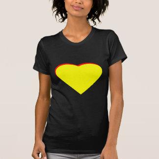 Gul röd bröllopinbjudan för hjärta MUSEET Zaz T-shirt