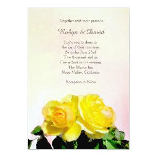 Gul ros som gifta sig inbjudan