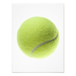 Gul skräddarsy mall för tennis boll fototryck